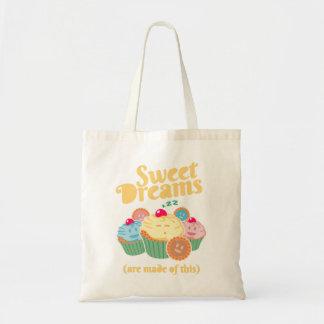 Bolsa Tote Os sonhos doces são feitos… de cupcakes e de