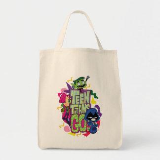 """Bolsa Tote Os titã adolescentes vão! Das """"logotipo animal do"""