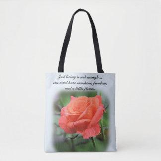 Bolsa Tote Os únicos salmões coloriram cor-de-rosa com