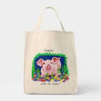 Bolsa Tote Os Vegans fazem-me a sacola feliz do mantimento