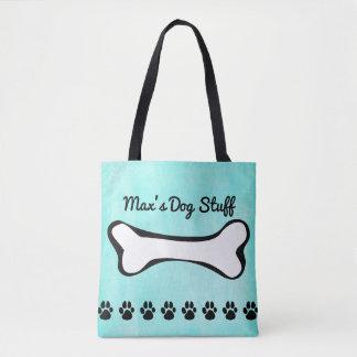 Bolsa Tote Osso de cão Monogrammed do filhote de cachorro