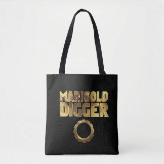 Bolsa Tote Ouro do preto do escavador do cravo-de-defunto