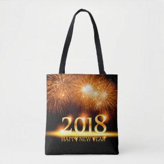 Bolsa Tote Ouro fogos-de-artifício dos 2018 felizes anos