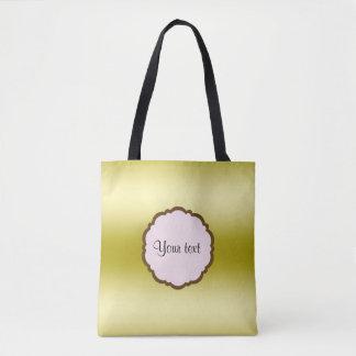 Bolsa Tote Ouro glamoroso personalizado