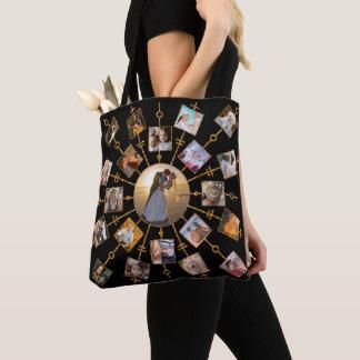 Bolsa Tote Ouro preto bonito das imagens da colagem 42 da