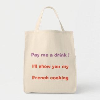 Bolsa Tote Pague-me uma bebida!