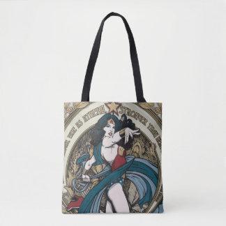 Bolsa Tote Painel de Nouveau da arte da mulher maravilha