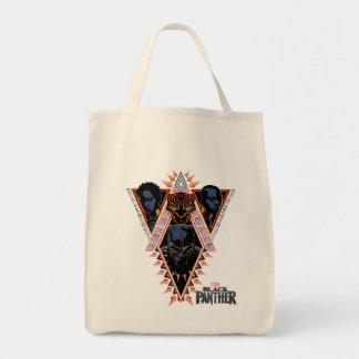 Bolsa Tote Painel tribal dos guerreiros da pantera preta  