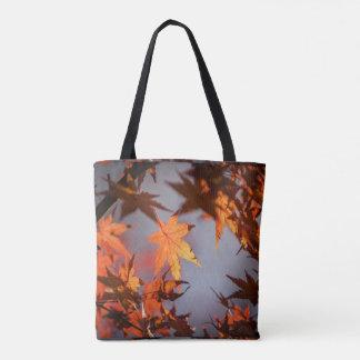 Bolsa Tote País das maravilhas da queda da cor do outono