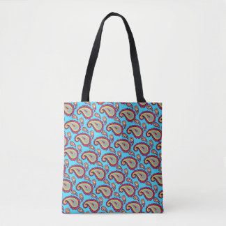 Bolsa Tote Paisley azul corajoso
