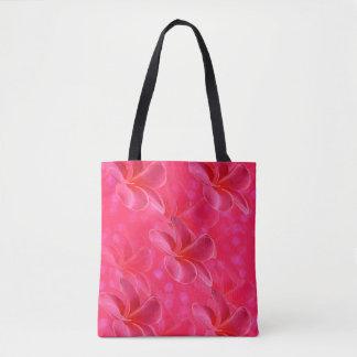 Bolsa Tote Paixão cor-de-rosa do Frangipani, saco de compras