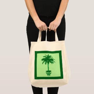 Bolsa Tote Palmeira Potted - esmeralda e luz - verde