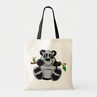 Bolsa Tote Panda bonito do bebê que come o bambu