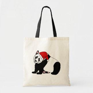 Bolsa Tote Panda do papai noel