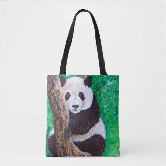 Bolsa Tote Panda em uma árvore
