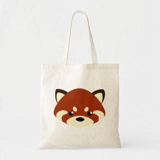 Bolsa Tote Panda vermelha bonito