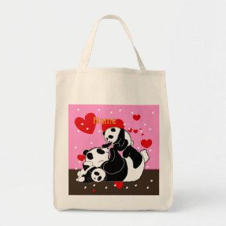 Bolsa Tote Pandas bonitos da mamã e do bebê da família da