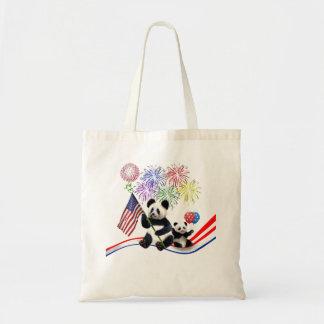 Bolsa Tote Pandas patrióticas