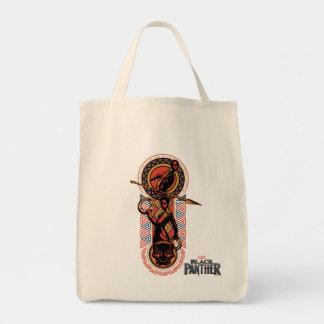 Bolsa Tote Pantera preta   Okoye & painel de Nakia Wakandan