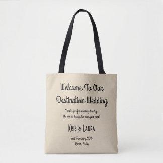 Bolsa Tote Para o amor - sacola do convidado do casamento do