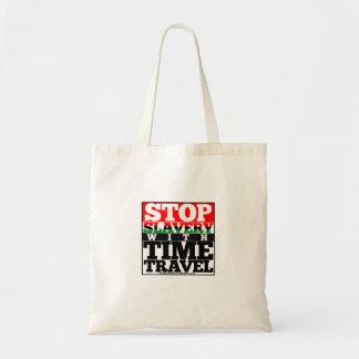 Bolsa Tote Pare a escravidão com a sacola do viagem do tempo