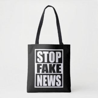 Bolsa Tote Pare a notícia falsificada