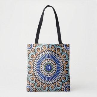 Bolsa Tote Parede geométrica da mesquita do mosaico
