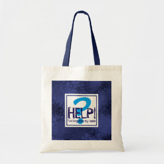 Bolsa Tote Paródia azul do monograma
