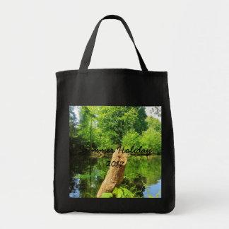 Bolsa Tote Parque do lago photography da natureza do tronco