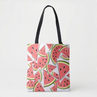 Bolsa Tote Parte traseira do rosa da sacola da melancia