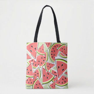 Bolsa Tote Parte traseira verde do rosa da sacola da melancia
