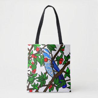 Bolsa Tote Pássaro da árvore de cereja