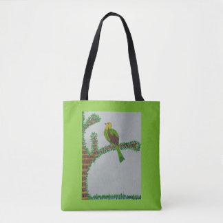 Bolsa Tote Pássaro em um ramo