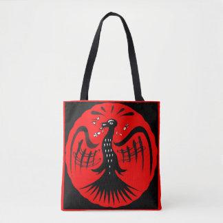 Bolsa Tote pássaro fantástico da arte popular do pássaro