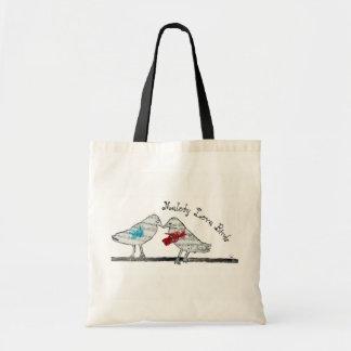 Bolsa Tote Pássaros do amor da melodia - saco