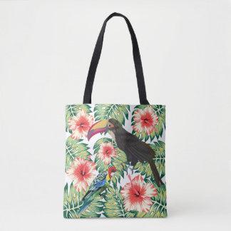 Bolsa Tote Pássaros tropicais das séries 1 do design do