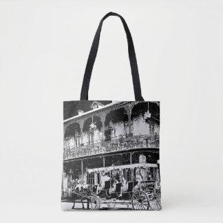 Bolsa Tote Passeio da carruagem de Nova Orleães - sacola