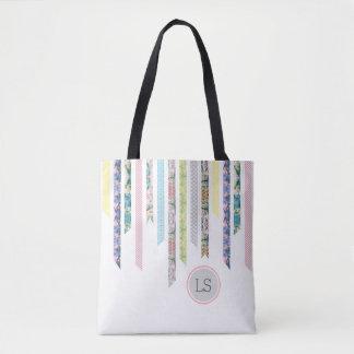 Bolsa Tote Pastels da fita de Washi | DIY & monograma dos