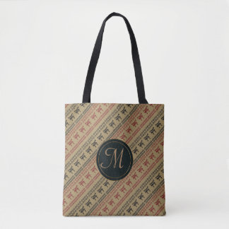 Bolsa Tote pattern.monogram. sem emenda africano étnico