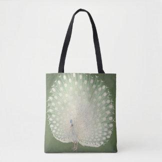 Bolsa Tote Pavão japonês das belas artes | do vintage