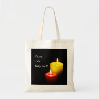 Bolsa Tote Paz, amor, felicidade