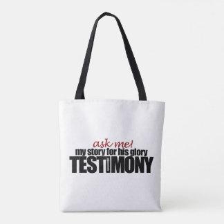 Bolsa Tote Peça-me meu testemunho! Sacola