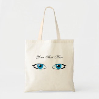 Bolsa Tote Peças faciais - olhos azuis brilhantes