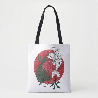 Bolsa Tote Peixes Yin de Koi do japonês & sacola de Yang