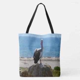 Bolsa Tote Pelicano com o olhar,