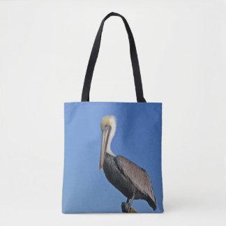 Bolsa Tote Pelicano em um pólo