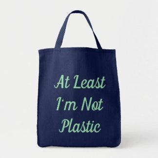 Bolsa Tote Pelo menos eu não sou sacola plástica