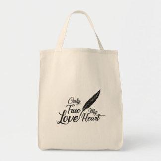 Bolsa Tote Pena verdadeira do amor da ilustração
