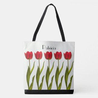 Bolsa Tote Personalize:  Fotografia floral das tulipas