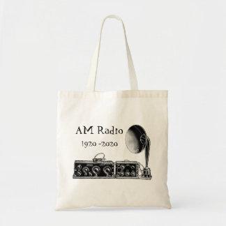 Bolsa Tote Personalize o receptor de rádio do AM do vintage